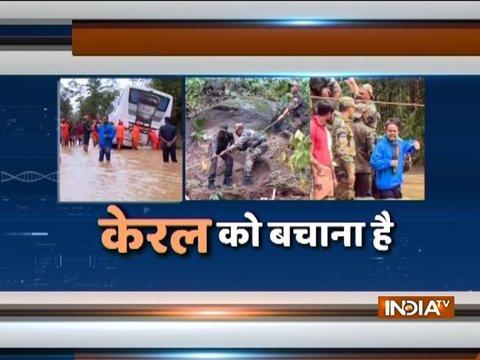केरल बाढ़ : अबतक 357 लोगों की मौत, 11 जिलों में रेड अलर्ट जारी