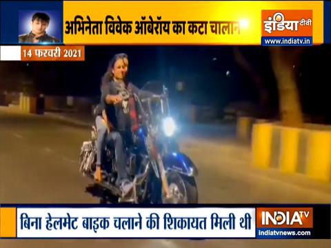 विवेक ओबरॉय का मुंबई में कटा चालान, बगैर हेलमेट चला रहे थे बाइक