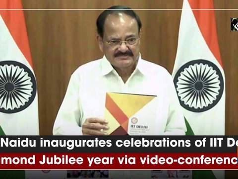 VP Naidu inaugurates celebrations of IIT Delhi Diamond Jubilee year via video-conferencing