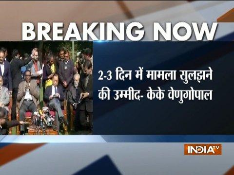 SC row: Judicial crisis not resolved yet, confirms AG K K Venugopal