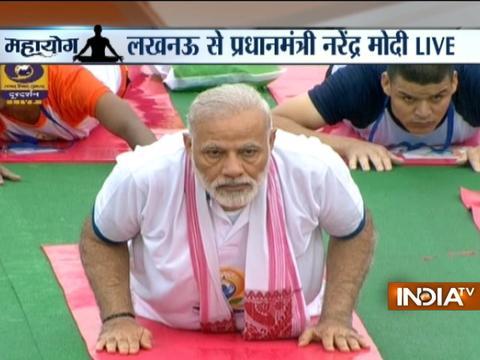 PM Modi leads International Yoga Day celebrations in Lucknow