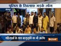 People stage protest outside Mahamandir police station in Jodhpur