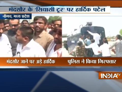 Patidar Leader Hardik Patel held by MP Police in Neemuch