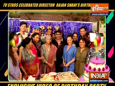 TV stars celebrate director Rajan Shahi's birthday.