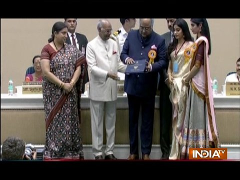 Sridevi wins National Award for MOM, Boney Kapoor receives award on her behalf with daughters