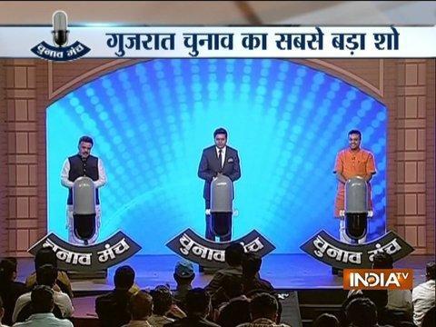 Sanjay Nirupam and Sambit Patra on India TV Chunav Manch