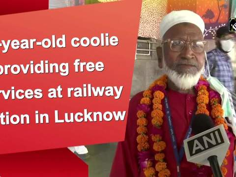 80-year-old coolie providing free services at railway station in Lucknow