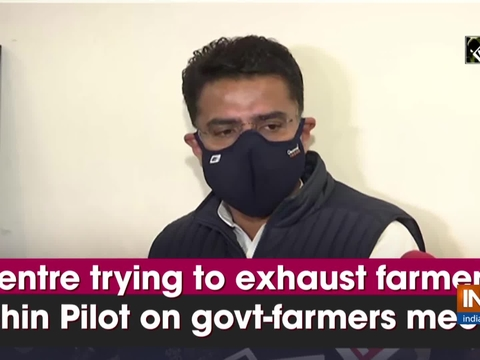 Centre trying to exhaust farmers: Sachin Pilot on govt-farmers meeting