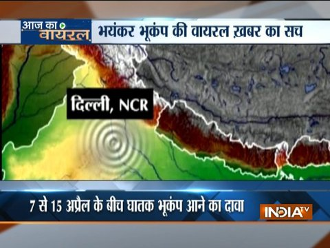 Viral message claims Delhi to be hit by a 9.1 magnitude earthquake