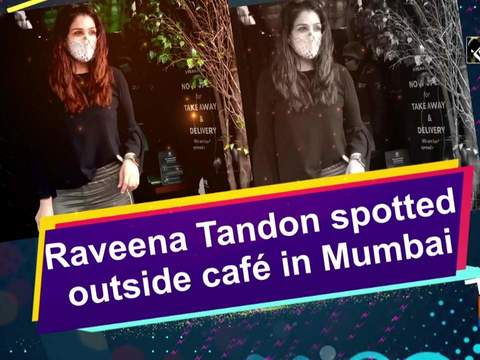 Raveena Tandon spotted outside cafe in Mumbai