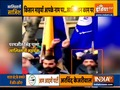 Khalistani supporters seen in front of Indian High Commission in London