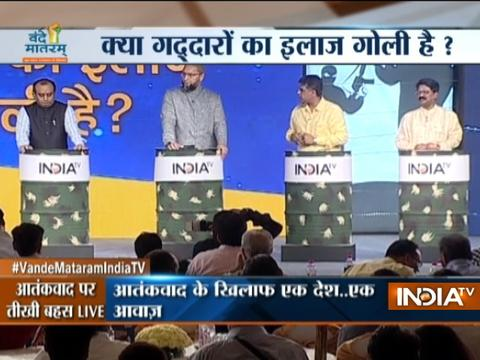 Debate between Asaduddin Owaisi, Sudhanshu Trivedi, Manish Tiwari, Arvind Sawant