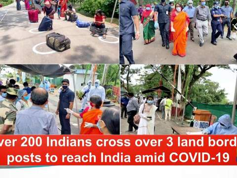 Over 200 Indians cross over 3 land border posts to reach India amid COVID-19