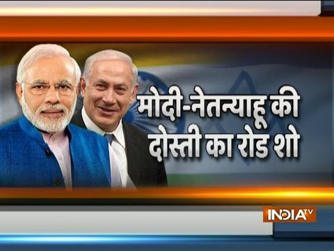 India-Israel friendship grows stronger as PM Modi-Netanyahu holds roadshow in Ahmedabad