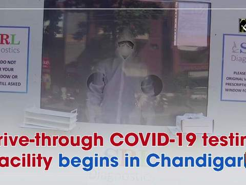 Drive-through COVID-19 testing facility begins in Chandigarh