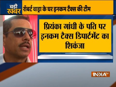 Benami properties case: Income Tax records Robert Vadra's statement