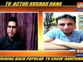 Actor Rushad Rana on re-joining the popular TV show 'Anupamaa'