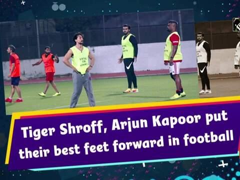 Tiger Shroff, Arjun Kapoor put their best feet forward in football