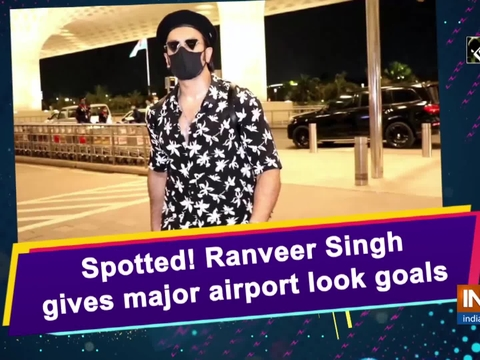 Spotted! Ranveer Singh gives major airport look goals