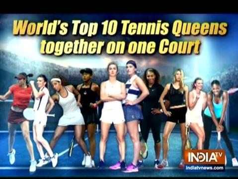 'क्वींस ऑफ़ द फ्यूचर' ईवेंट में पहुंची टेनिस की टॉप महिला खिलाड़ी