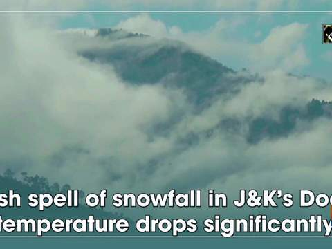 Fresh spell of snowfall in JandK's Doda, temperature drops significantly