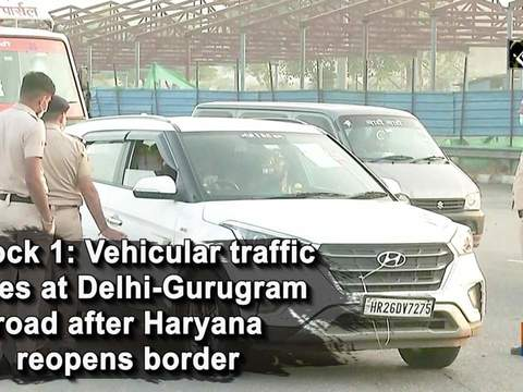 Unlock 1: Vehicular traffic eases at Delhi-Gurugram road after Haryana reopens border