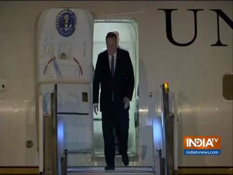 दिल्ली पहुंचे अमेरिकी विदेश मंत्री माइक पॉम्पियो