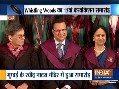 सुभाष घई के विस्लिंग वुड्स इंटरनेशनल के कन्वोकेशन पर सलीम खान, इंडिया टीवी के एडिटर-इन-चीफ रजत शर्मा बने खास मेहमान
