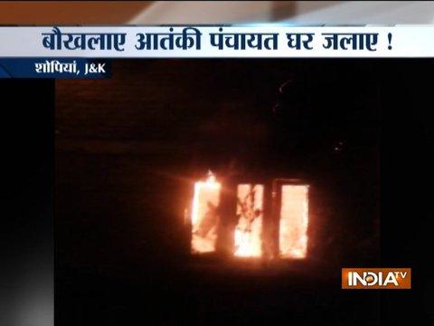 जम्मू-कश्मीर: बौखलाए आतंकियों ने पंचायत घर में लगाई आग