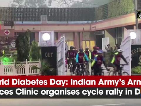 World Diabetes Day: Indian Army's Armed Forces Clinic organises cycle rally in Delhi