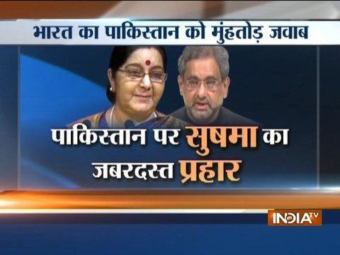 We made IITs and IIMs, Pakistan produced Lashkar and Jaish: Sushma Swaraj at UNGA