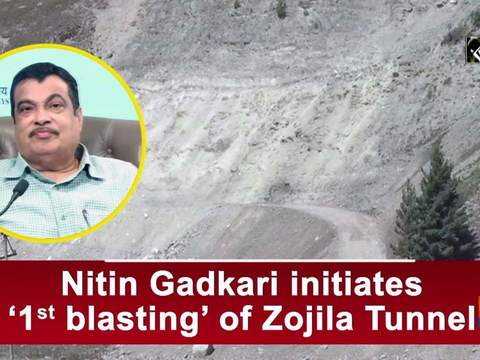 Nitin Gadkari initiates '1st blasting' of Zojila Tunnel