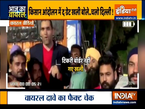 Aaj Ka Viral: The Great Khali joins farmers' Protest