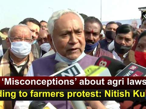 'Misconceptions' about agri laws leading to farmers protest: Nitish Kumar