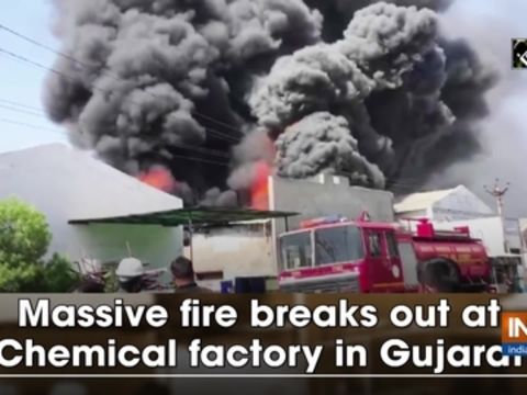 Massive fire breaks out at Chemical factory in Gujarat