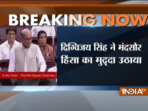 Congress leader Digvijay Singh raises Mandsaur violence issue in Rajya Sabha