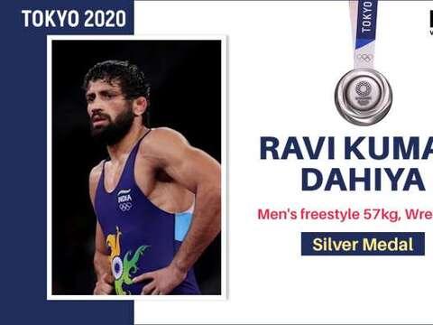 टोक्यो ओलिंपिक में रवि दहिया ने सिल्वर जीता