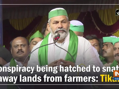 Conspiracy being hatched to snatch away lands from farmers: Tikait