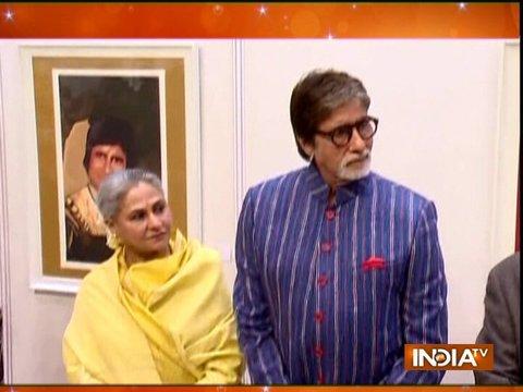 Amitabh Bachchan inaugurate Dilp De's art exhibition