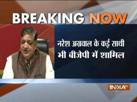 Samajwadi Party leader Naresh Agrawal joins BJP