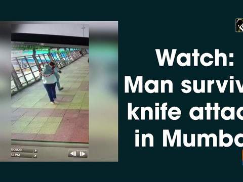 Watch: Man survives knife attack in Mumbai