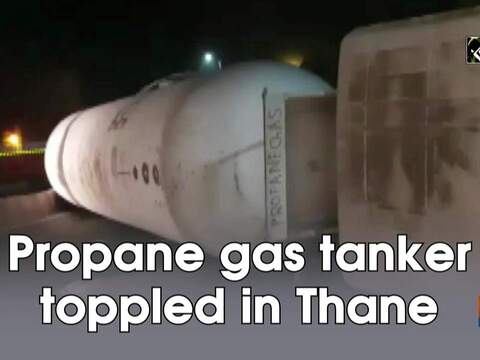 Propane gas tanker toppled in Thane