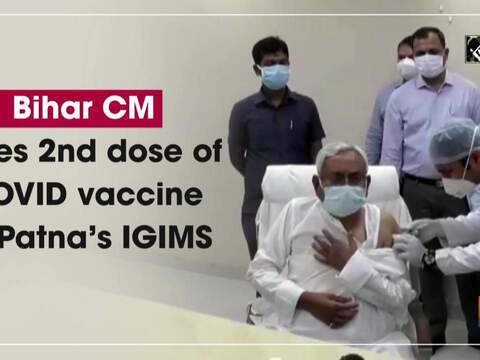 Bihar CM takes 2nd dose of COVID vaccine at Patna's IGIMS