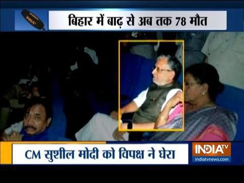 सुशील मोदी को बिहार में बाढ़ के बीच 'सुपर 30' देखने के लिए ट्रोल किया गया