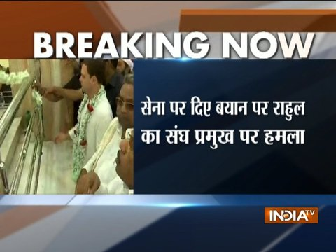 Mohan Bhagwat's speech an insult to every Indian: Rahul Gandhi slams RSS chief