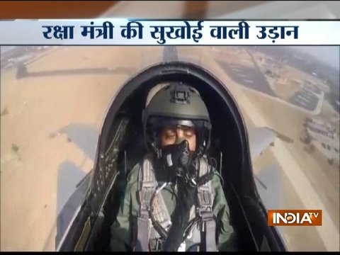 India's first woman Defence Minister Nirmala Sitharaman flies in Sukhoi for 40 minutes
