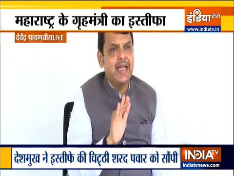 BJP leader Devendra Fadnavis targets Anil Deshmukh, says he should have resigned much earlier