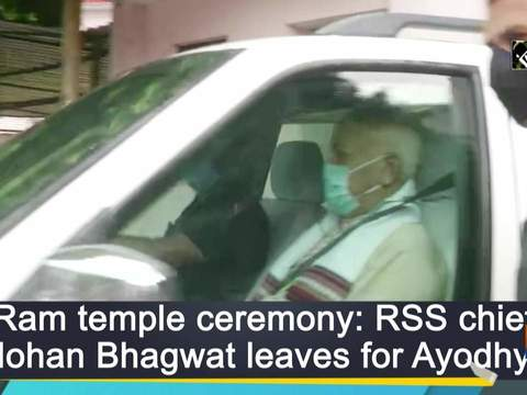 Ram temple ceremony: RSS chief Mohan Bhagwat leaves for Ayodhya