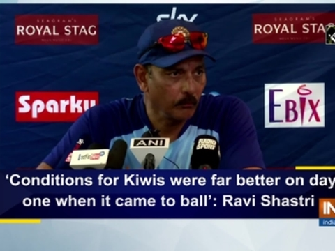 'Conditions for Kiwis were far better on day one when it came to ball': Ravi Shastri