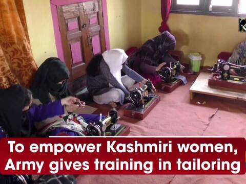 To empower Kashmiri women, Army gives training in tailoring